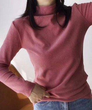 トップス レディース プチハイネック カットソー ストレッチtシャツ シンプル インナー