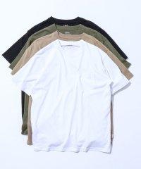 USAコットンヘビーウェイトクルーネックポケットTシャツ#