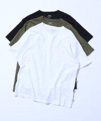 USAコットンヘビーウェイトVネックポケットTシャツ#