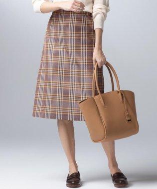 PICCHI キャメルチェック スカート