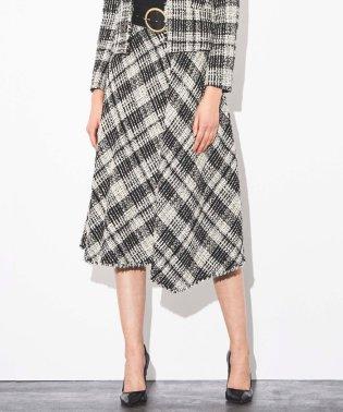【セットアップ】ビッグチェックツイードスカート