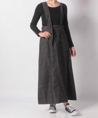 【CIAOPANIC TYPY】チェックコールアシメショルダースカート