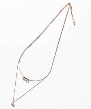 ラインパール2連ネックレス