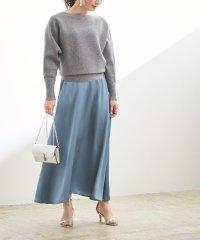 サテンフレアマキシ丈スカート