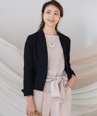 入学式・卒業式に≪2020SS先行予約≫【WEB限定】ニットツイードカラーレスジャケット