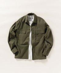 SHIPS any: ミリタリーシャツジャケット