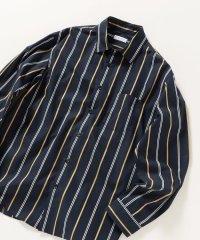 SHIPS any: ワイドストライプ レギュラーカラーシャツ