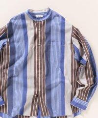 SHIPS any: クレイジー バンドカラー シャツ
