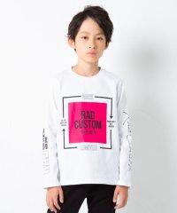 天竺スクエアプリント長袖Tシャツ