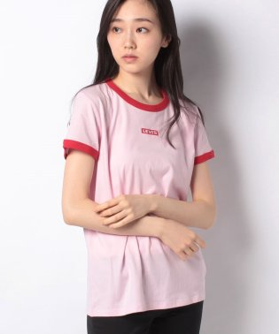 PERFECT RINGER TEE BABY TAB RINGER PINK