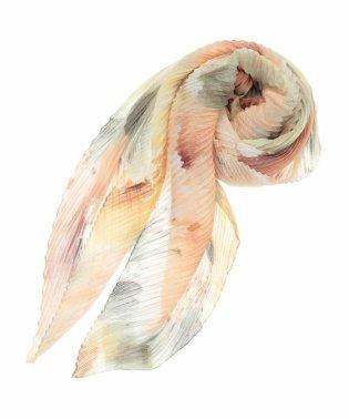フラワープリントプリーツスカーフ