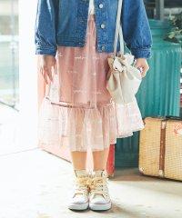 ロゴ刺繍チュールスカート(S~XL)