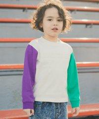 クレイジー配色長袖Tシャツ(90~150cm)