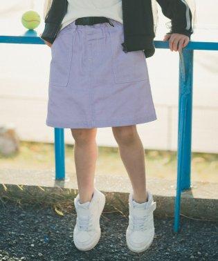 ベルト付ツイルスカート(S~XL)
