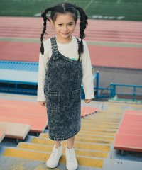 ケミカルデニムジャンパースカート(90~150cm)