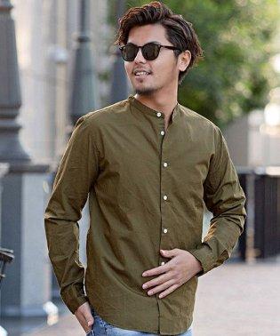 CavariA【キャバリア】日本製 バンドカラー  長袖シャツ