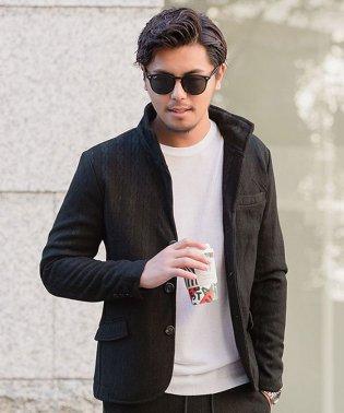 CavariA【キャバリア】ケーブル ニットソーイタリアンカラー 長袖 ジャケット
