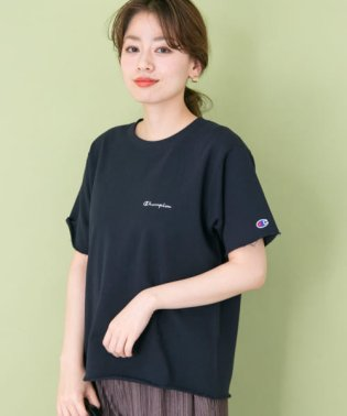 【予約】Champion 別注カットオフ刺繍ロゴスウェットTシャツ