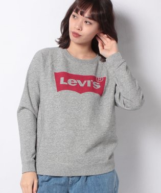 RELAXED GRAPHIC CREW FLEECE BATWING SMOK