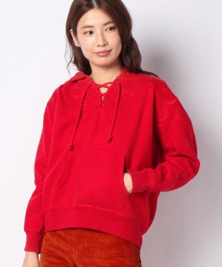 LMC LACE UP HOODIE AURORA RED