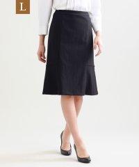 【L】【セットアップ対応】【美Skirt】ツイーディーアートピケセミフレアースカート