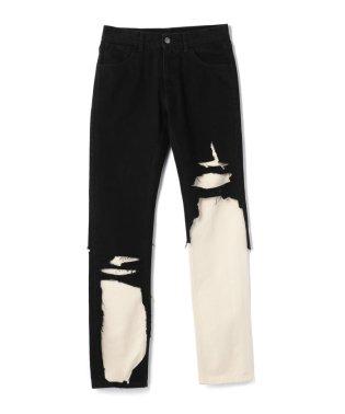 RAF SIMONS/ラフシモンズ/SLIM FIT DOUBLE DESTROYED DENIM PANTS