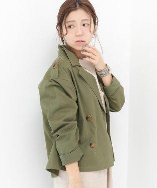 【2020ss】 コットンネルショート丈トレンチコート mitis ss
