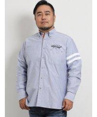 【大きいサイズ】ポロ/POLO オックスロゴプリント ボタンダウン長袖シャツ