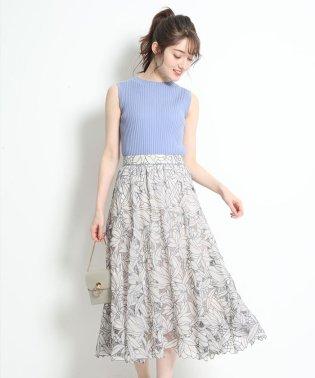 シアーカットワーク刺繍スカート