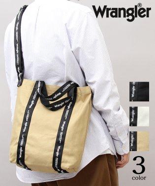 【Wrangler/ラングラー】2WAY縦型キャンバスショルダートートバッグ/ロゴテープ