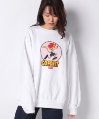 OVSZ FLEECE GO FOR IT CHARECTER WHITE+ G