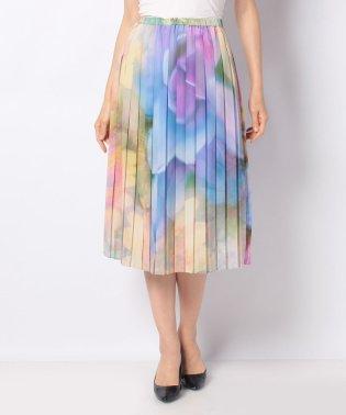 【セットアップ対応商品】フラワープリント プリーツスカート