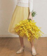 ≪手洗い可能≫トリコットチュールプリーツスカート