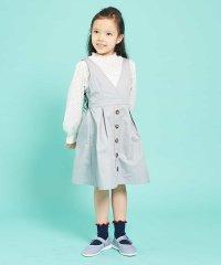 [100-130]【洗える】カシュクールジャンパースカート[WEB限定サイズ]