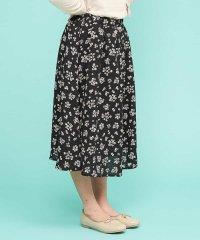 [140-150]【洗える】フラワープリントスカート