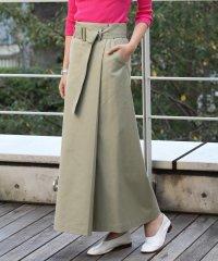 サップルツイル ベルテッドロングスカート