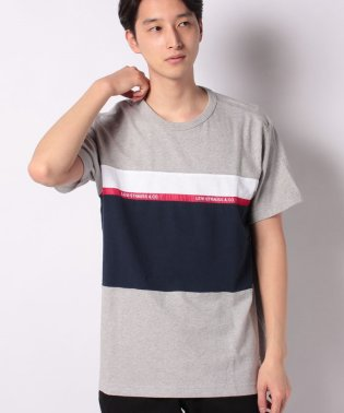 SS MIGHTY PIECED TEE TAPE APPLIQUE M GRE