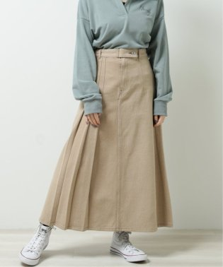 片サイドプリーツスカート