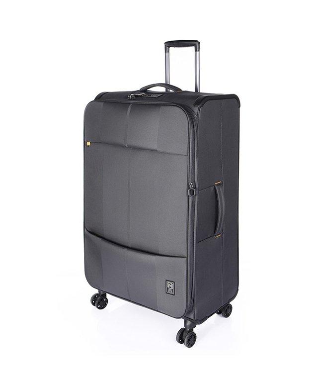 (Finoxy-ZERO/フィノキシーゼロ)フィノキシーゼロ スーツケース ソフト 超軽量 大容量 拡張 80L〜88L Finoxy ZERO fnzr−72/ユニセックス チャコールグレー
