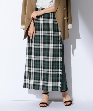 O'NEIL OF DUBLIN / リネン タータンパネル コンビスカート