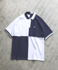 FRED PERRY × BEAMS / 別注 ルーズ パネル切替 ポロシャツ