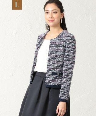 【L】【セレモニー・入卒対応】ニットツイードジャケット