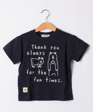 ロゴくまプリントTシャツ