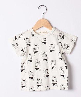 モアイ総柄Tシャツ