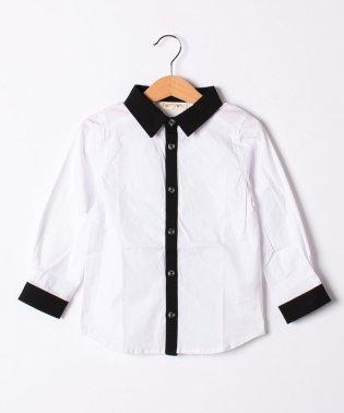 長袖配色シャツ