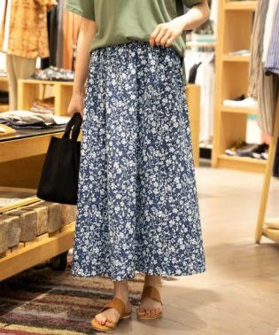 【SonnyLabel】レトロフラワーロングスカート