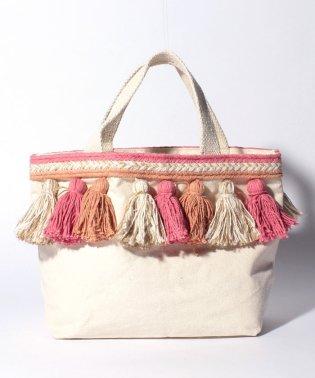 canvas tassel bag