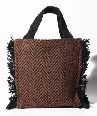 Side fringe Bag_herringbone