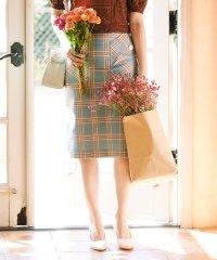 ビックポケットチェックタイトスカート