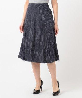 【洗える】ドット幾何プリント スカート